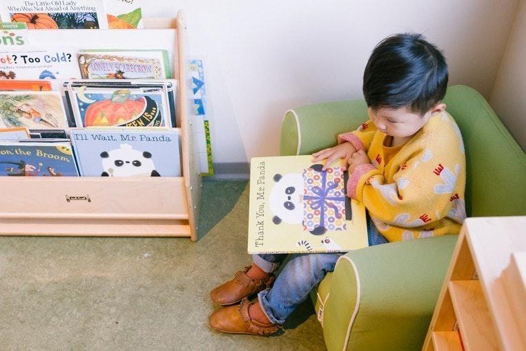 reading activity for preschool, a quarantine homeschool language activity by Guidepost Montessori