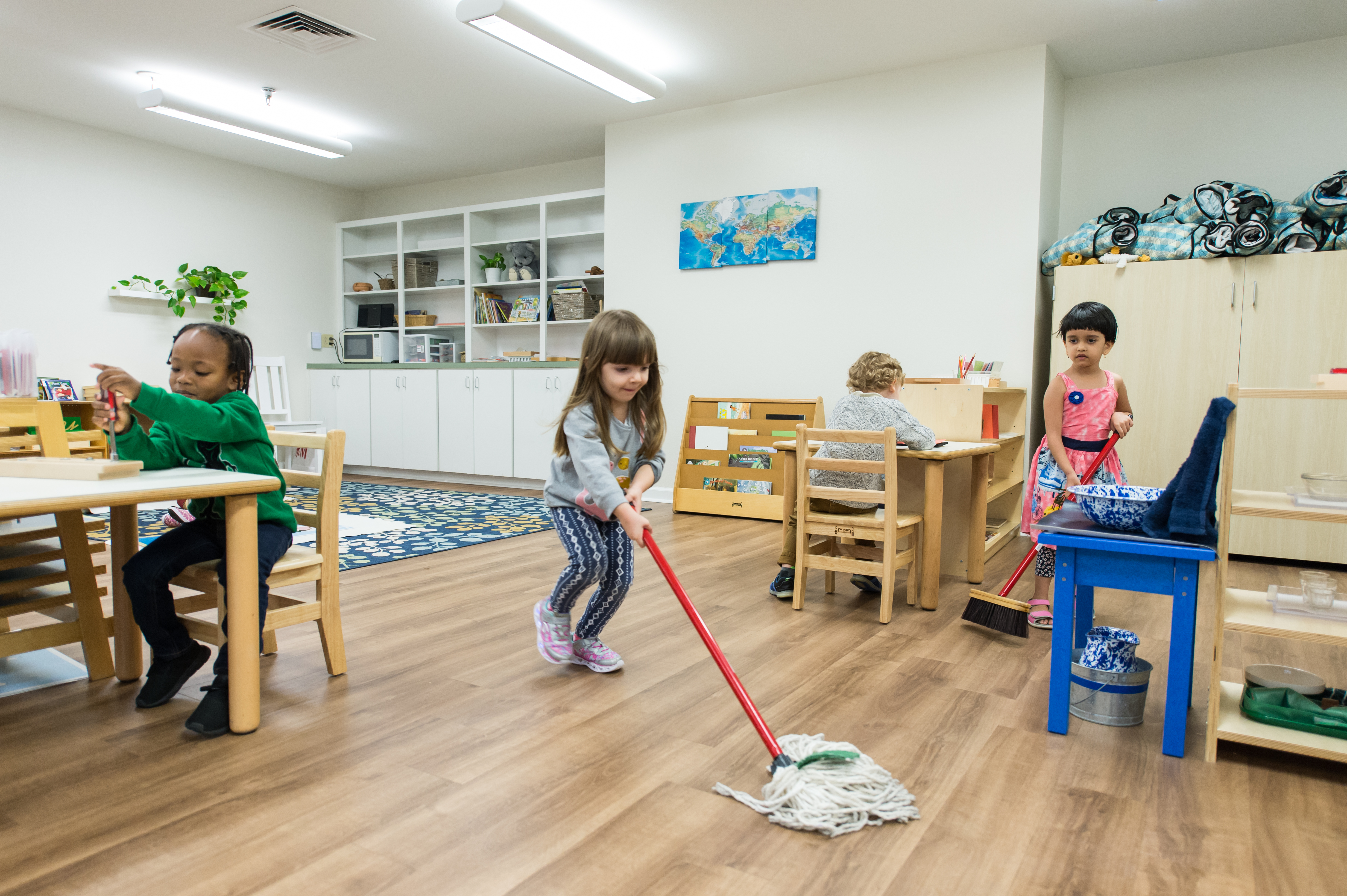 Why is There Always a Child Mopping in the Montessori Classroom?