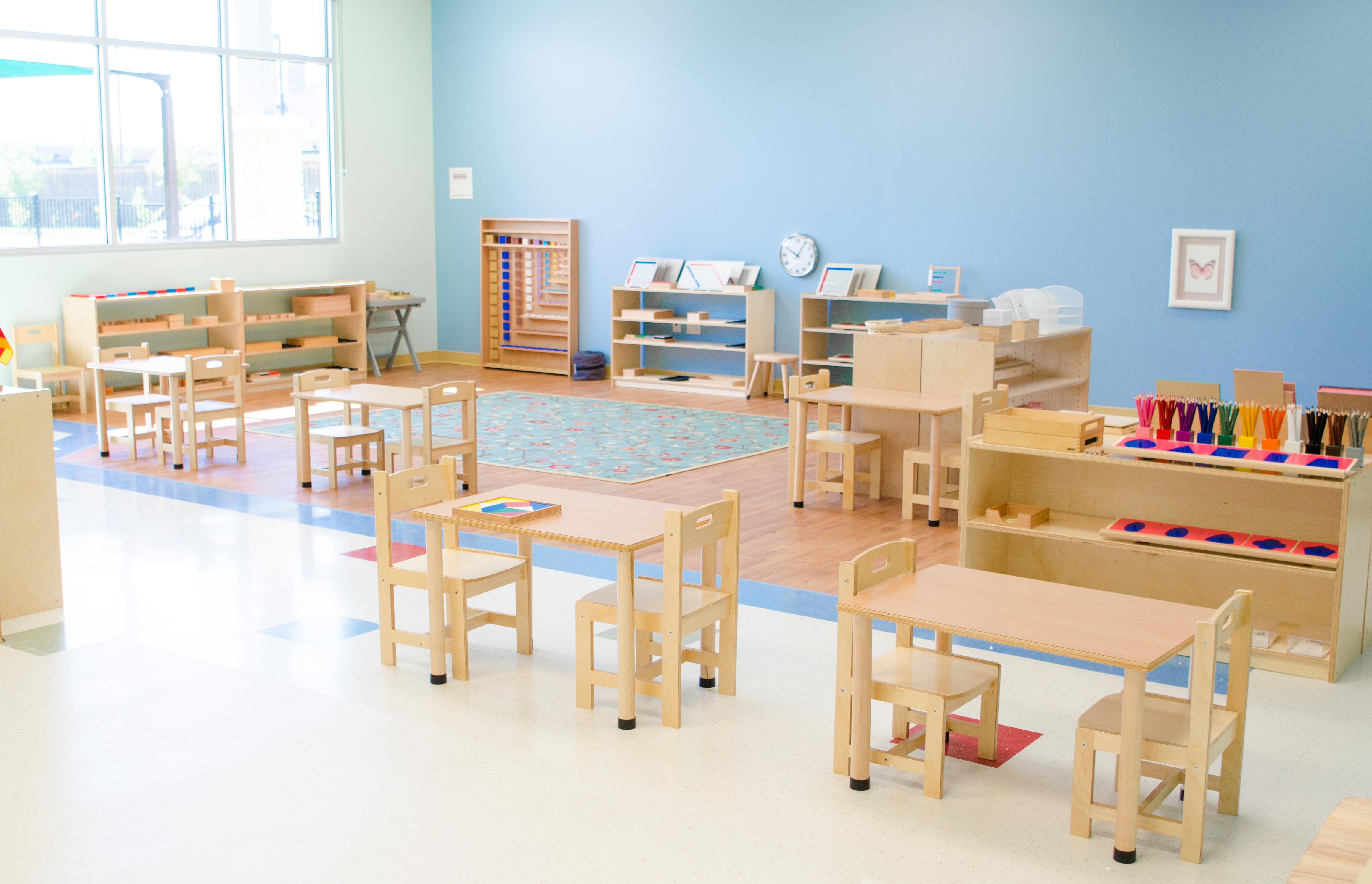 Montessori classroom at Guidepost Montessori